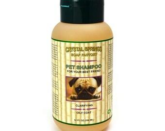 Pet Shampoo, Clarifying Pet Shampoo, Oily Coat Shampoo, All Natural Pet Shampoo, Vegan Pet Care, Natural Dog Shampoo