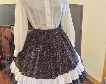 Kate Shorer Western full circle skirt - square dance skirt - country skirt