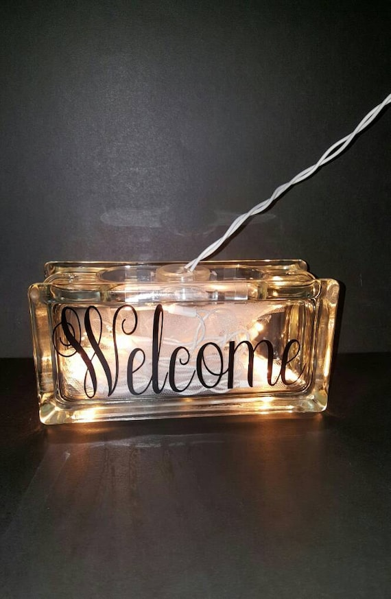 Personalized 4x8 glass block by personaltouchtreas1 on etsy for Custom acrylic blocks