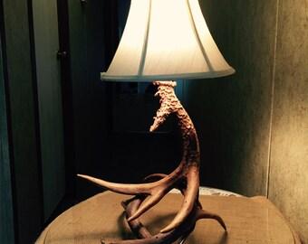 Deer antler lamp, antler lamp, deer horn lamp,