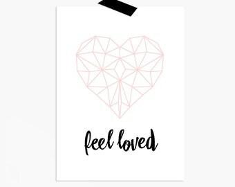 Printable / Poster Geo Heart