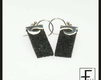 "925 Silver earrings ""wave"" and lava ... Wave earrings in silver 925 and lava ..."
