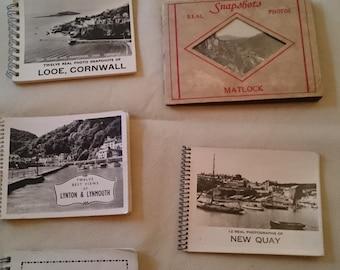 8 Vintage photographic souvenir booklets