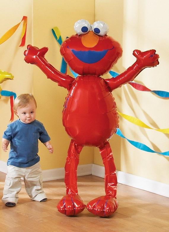 Huge elmo airwalker jumbo birthday balloon sesame