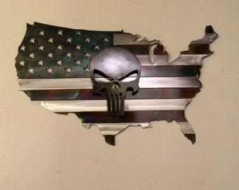 Punisher American US flag