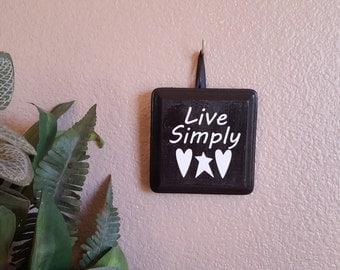 Live Simply Wall Decor
