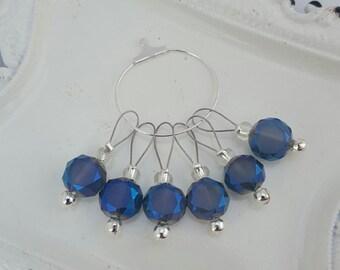 Glass bead knitting stitch markers