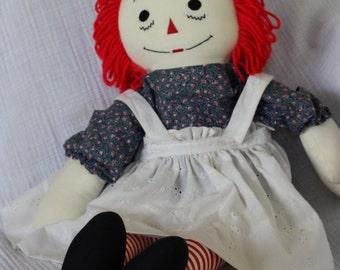 """Raggedy Ann Doll - Handmade 20"""""""