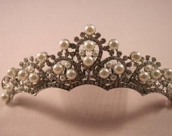 Teardrop Tiara Comb Vintage Inspired Art Deco 1920s Wedding Accessory Bridal Cheap Headpiece