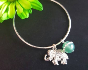 Lucky elephant bangle