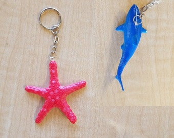 8 Pieces - Realistic 3D Ocean Animal Party Favor - Zipper Pulls