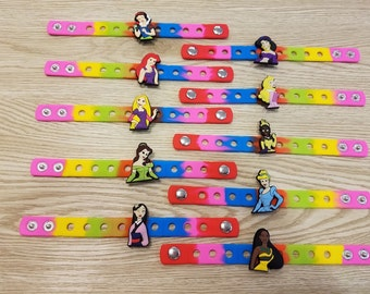 10 Princesses Silicone Bracelets Party favors