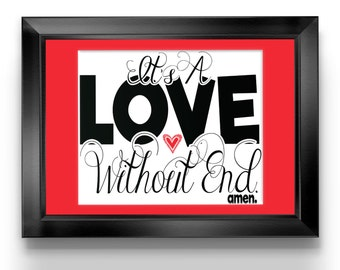 It's a Love Without End Amen. DIGITAL DOWNLOAD