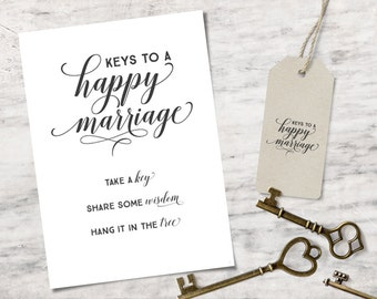 What is the key to a happy marriage