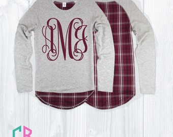 Monogram Oxford and Garnet Team Player Top