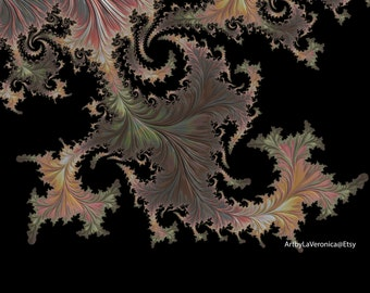 The Dragon Leaf, Asian, Fractal art.