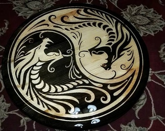Custom Made Ying Yang Dragon Table