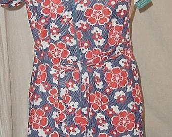 70's Dress w/belt MOD Vintage made in greece original tags size 12 groovy