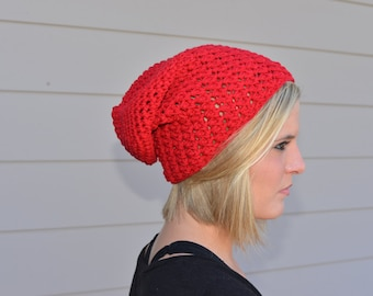 Red Slouchy Hat