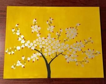 Art - Silver Blossom 24X18