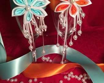 Kanzashi Wedding Special Occasion Glasses
