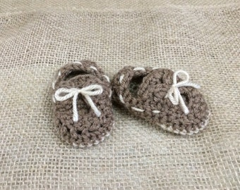 Baby Boat Shoes, Crib Shoes, Crochet Boat Shoes, Newborn Booties, Baby gift