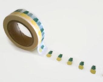 Pineapple washi tape w/Polka dots