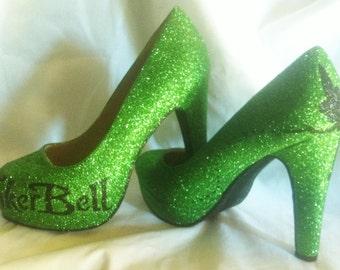 Disney Tinkerbell inspired Heels * *  * SIZES 3-8