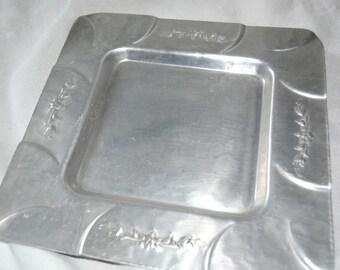 1950's Mid Century Everlast Hand Forged Aluminum Tray.
