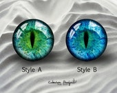 Eye -- Handmade Glass Cabochons,Dome Glass Cabochons,Digital Cabochons,photo Cabochons,Glass Cover--15 size available(8mm-58mm)