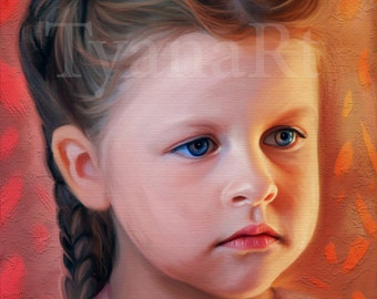 Custom Portrait, Custom Child Portrait, Personalized Portrait,Custom Painting, Digital Painting  Kid's portrait, Portrait custom