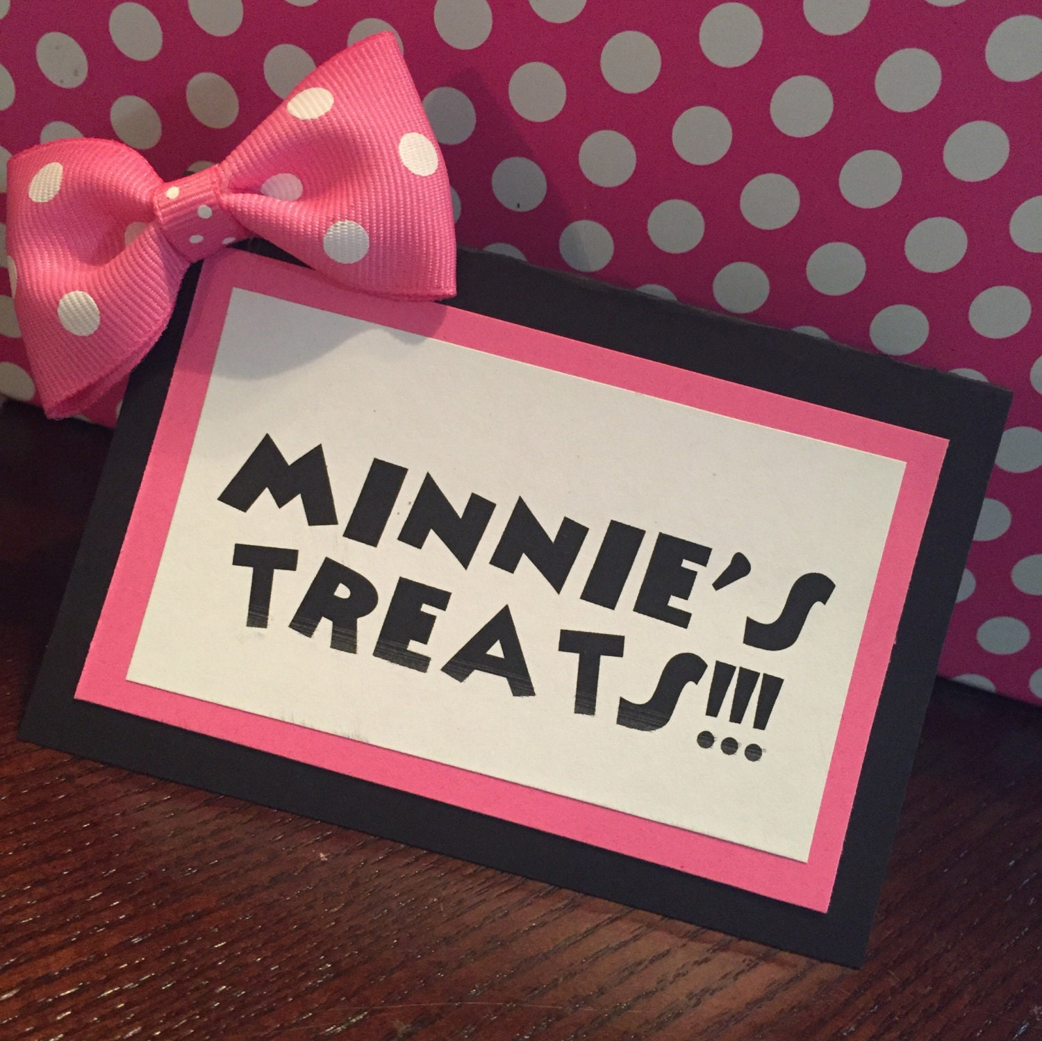 Minnie Mouse Food Tent/Party Labels Set Of 10