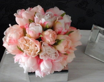 pink  wedding bouquet blush pink bouquet silk bouquet brides bouquet wedding bouquet flower bouquet peony bouquet pink peony bouquet