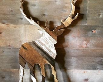 Reclaimed Wood Mule Deer