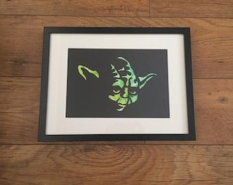 Yoda Ink Silhouette