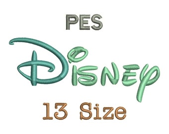 Disney Embroidery Font - 13 Size Monogram Fonts PES File Format Machine Embroidery Fonts Design -  Instant Download