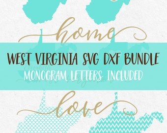 West Virginia Svg Dxf Bundle svg fonts svg monogram frames svg monograms files for silhouette svg files for cricut svg svg mermaid pattern