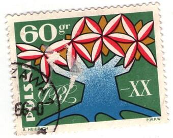 Polish postage stamp 60 gr