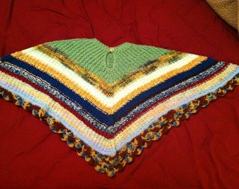 Knitted children's poncho