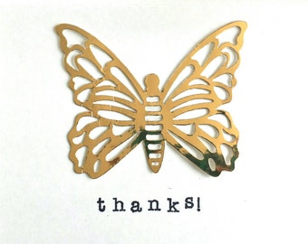 Gold butterfly thanks!