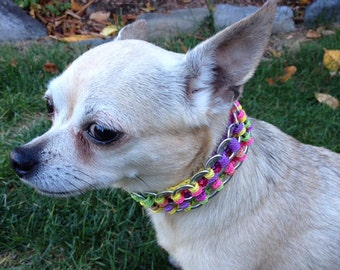 Pet Collars made out of Recycled Can Tabs