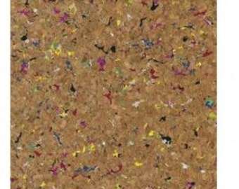 Cork fabric rolled up pellet 45x30cm 0, 5 mm