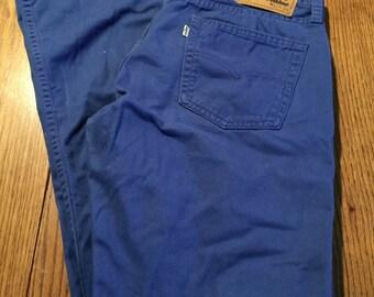 Mens Levi's 514 32 x 34 Slim Fit Blue Jeans White Tab