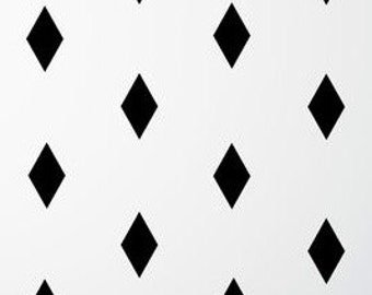 Diamond wall stickers, Argyle wall decals, argyle sticker, wall decal, nursery wall decal, wall decor stickers, vinyl geometric shapes decal
