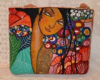 "Felted handbag ""Flowers"""