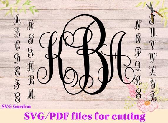 Download SVG font files for Cricut Silhouette Monogram SVG letters