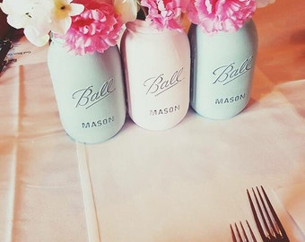 Pastel Mason Jars (set of 3)