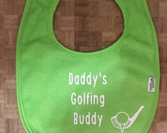 Daddy's Golfing Buddy Bib