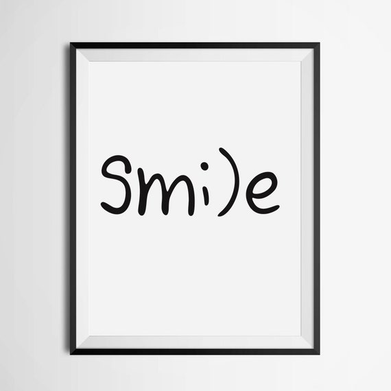 Pintable smile inspirational print positive