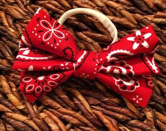 Baby bow headband bandana material